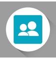 social network design media icon Flat vector image
