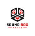 sound box music logo vector image