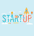 start up concept composition - flat design vector image vector image