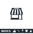 Store icon flat vector image vector image