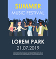 summer music festival brochure template crowd vector image vector image