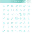thin lines web icons set contact us vector image