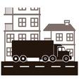 Transportation design vector image vector image