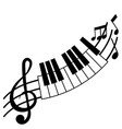 treble clef and piano board vector image vector image