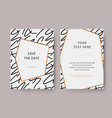 trendy and modern white invitation card template vector image