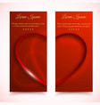 valentines vertical banners set vector image vector image