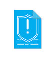 warning symbol on a paper cyber security vector image