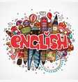 word english on white background with england vector image vector image
