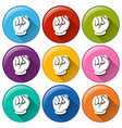 Hand icons vector image