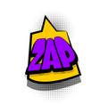 comic book text bubble advertising zap vector image