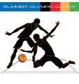 Summer Olympic igry volleyball silhouettes vector image