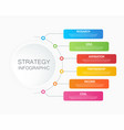6 step business strategy concept infographic vector image vector image