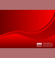 abstract wave and background red color with copy vector image vector image