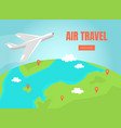 air travel landing page template online tickets vector image vector image