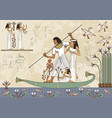 ancient egypt banner vector image vector image