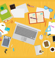 art creative office workplace vector image vector image