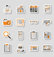 auditing tax accounting sticker icons set vector image vector image