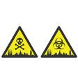barcelona danger emergency biological hazard vector image vector image