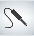 black audio jack cable icon vector image vector image