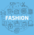 blue line flat circle fashion vector image