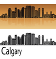 calgary v2 skyline in orange vector image vector image