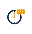 chat time logo icon design vector image vector image