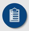 checklist sign white contour vector image vector image