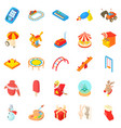 childness icons set cartoon style vector image vector image