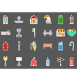 City elements stickers set vector image vector image