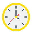 clock flat icon time and website button vector image