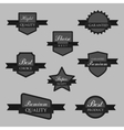 collection abstract label sticker tags vector image vector image