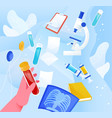 colorful composition with different medical vector image