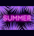 colorful modern with neon lettering summer and vector image vector image