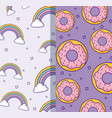 colorful patterns design vector image