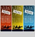 coloured banners vector image
