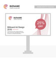 company advertisment banner with logo and slogan vector image