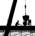 construction silhouette vector image vector image