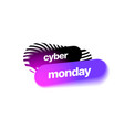 cyber monday discount banner template vector image vector image