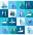 Doctors Icons Set vector image vector image