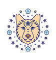 dog chinese zodiac sign vector image