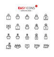 easy icons 44a computer crime vector image vector image
