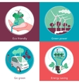 Ecology Concept 4 Flat Icons Banner vector image vector image