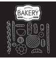 France bakery collection black and white vector image vector image