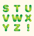 green leaves eco font vector image vector image