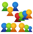 groups of colorful figures vector image