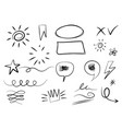 hand drawn set elements for concept design vector image vector image