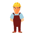 Happy cartoon repairman or construction worker vector image vector image