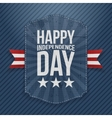 Happy Independence Day realistic Tag vector image vector image