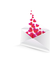 Heart in the envelope vector image vector image