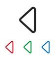 left arrow icon vector image vector image